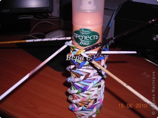 Мастер-класс Плетение Украшение на стену Плетеный венок из газетных трубочек с небольшим МК Бумага газетная фото 11