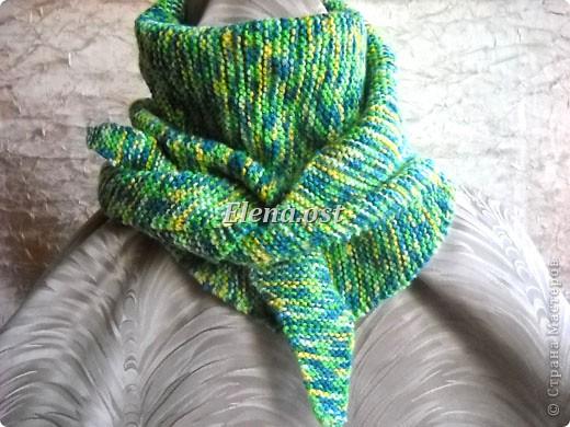 Гардероб Мастер-класс День рождения Вязание спицами Бактус - треугольный шарф-косынка МК Пряжа фото 12