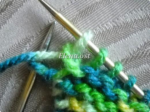 Гардероб Мастер-класс День рождения Вязание спицами Бактус - треугольный шарф-косынка МК Пряжа фото 6