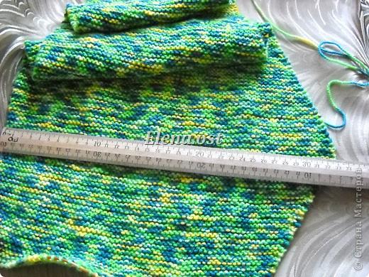 Гардероб Мастер-класс День рождения Вязание спицами Бактус - треугольный шарф-косынка МК Пряжа фото 8