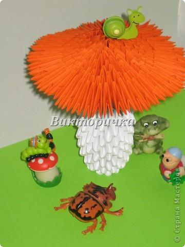Поделки по книгам сайта Оригами Оригами китайское модульное Фигурки из модулей - кактус нарциссы грибочки Бумага фото...