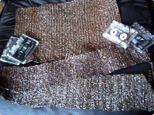 Сумка крючком из бросового материала фото 4