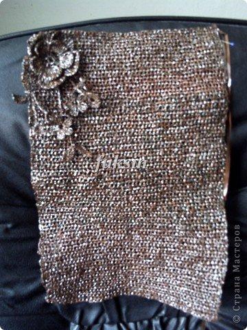 Сумка крючком из бросового материала фото 5