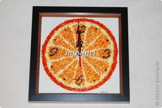 """Настенные часы """"Апельсин"""" фото 1"""