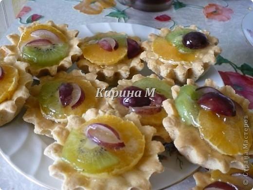 Песочное тесто, фрукты любые по вкусу, желатин