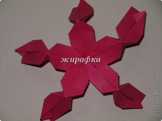 Poinsettia из книги Mukerji M.-Marvelous modular origami. Схему для неё любезно предоставила Олеся1979   на http://stranamasterov.ru/node/66700 фото 10