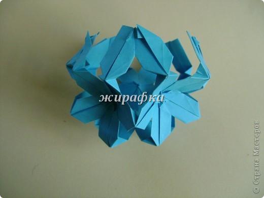 Poinsettia из книги Mukerji M.-Marvelous modular origami. Схему для неё любезно предоставила Олеся1979   на http://stranamasterov.ru/node/66700 фото 13