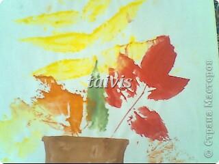 Печать листьями. Подготовительная группа. фото 4