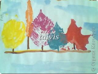 Печать листьями. Подготовительная группа. фото 1