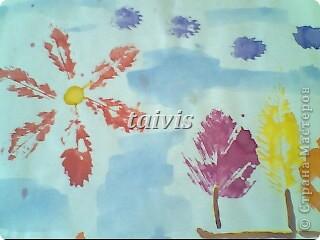 Печать листьями. Подготовительная группа. фото 3