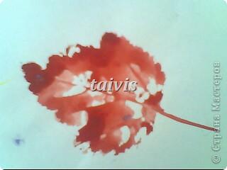 Печать листьями. Подготовительная группа. фото 7