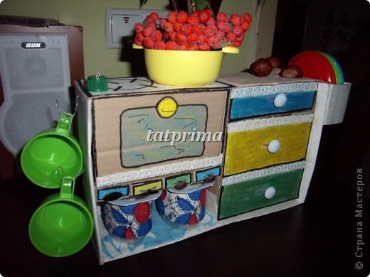 Вдохновившись походом по просторам интернет, решила соорудить кухоньку для сына. Вот что у меня получилось... фото 1