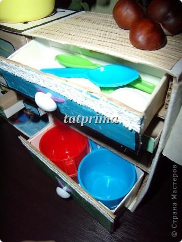 Вдохновившись походом по просторам интернет, решила соорудить кухоньку для сына. Вот что у меня получилось... фото 8