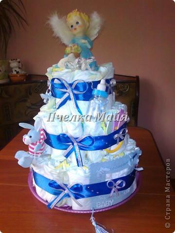 это мой первый тортик. делала для своего крестника фото 1