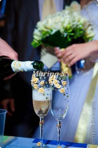 Еще одни фужерчики для бело-золотой свадьбы фото 1