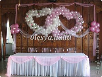 Украсила свадьбу шарами и тканью  фото 4