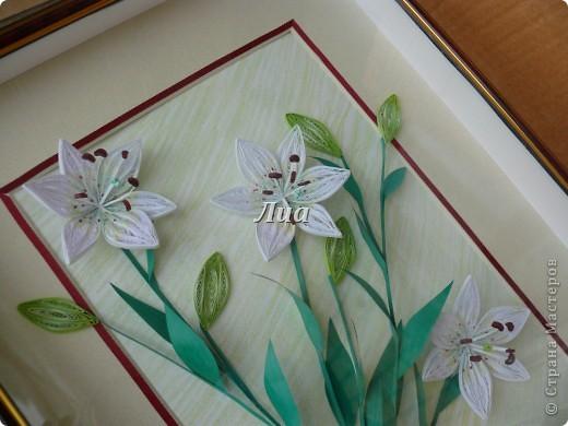 Лилии в подарок моей любимой тете. размер 30/40 фото 2