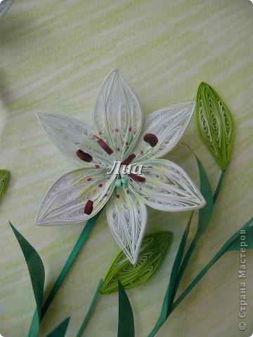 Лилии в подарок моей любимой тете. размер 30/40 фото 3