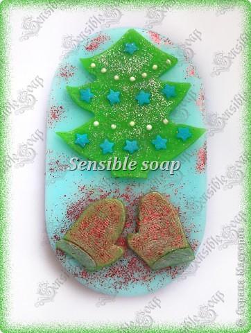 Мыло ручной работы.новогоднее мыло фото 1