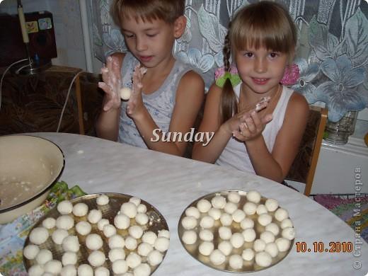 ...И захотелось моим огурчикам творожных шариков! фото 2