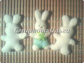Игрушка Мастер-класс День матери День семьи Шитьё Зайчики в Морковке Бисер Канва Ленты Ткань фото 14.
