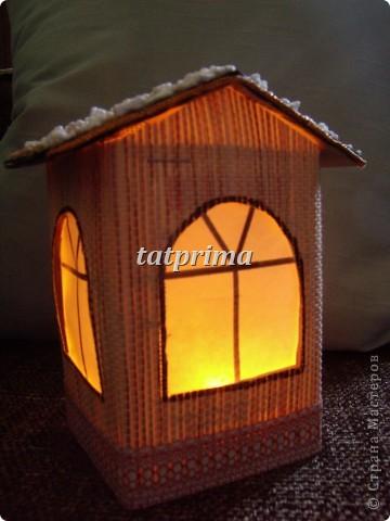 Светящийся домик на ёлку фото 1