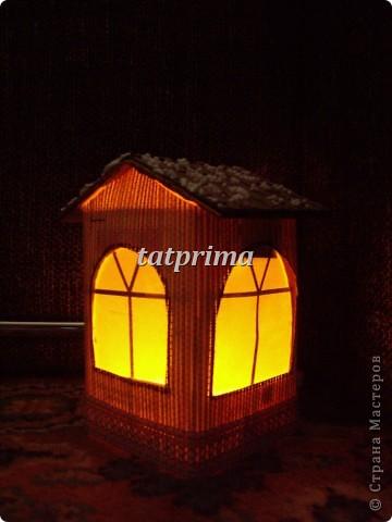 Светящийся домик на ёлку фото 3