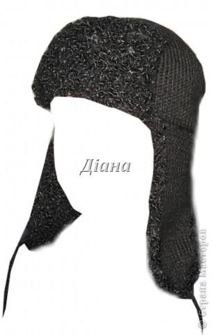"""Хочу похвастаться зимней шапкой, которую связала. Шапка двойная, отделка напоминает каракуль (пряжа """"Karina Boucle"""" 91% мохер, 5,4% шерсть, 3,6% нейлон, 100гр/80м).  фото 2"""