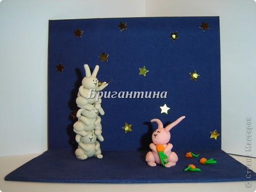 Это моя вторая работа про влюбленных кроликов (первая здесь http://stranamasterov.ru/node/112370). Вдохновил меня Энди Райли - художник. Его кролики-самоубийцы просто великолепны! фото 2