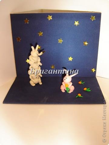 Это моя вторая работа про влюбленных кроликов (первая здесь http://stranamasterov.ru/node/112370). Вдохновил меня Энди Райли - художник. Его кролики-самоубийцы просто великолепны! фото 5