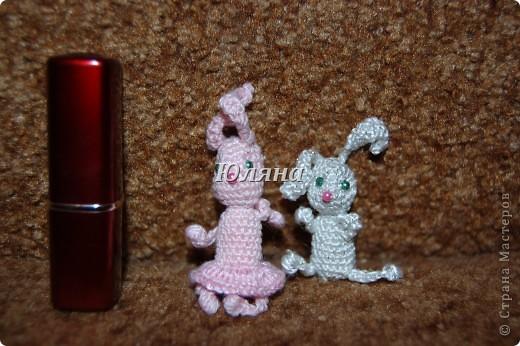 зайчики брелки 5-7 см вместе с ушами.розовая зая в юбочке фото 1