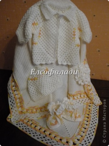 Гардероб Вязание крючком Комплект для новорожденного Пряжа
