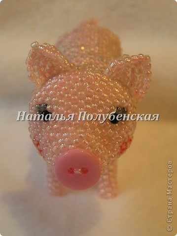 Свинка из бисера фото 2