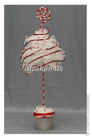 Handicraft product design modeling New Year Christmas trees made of tulle 4 photos