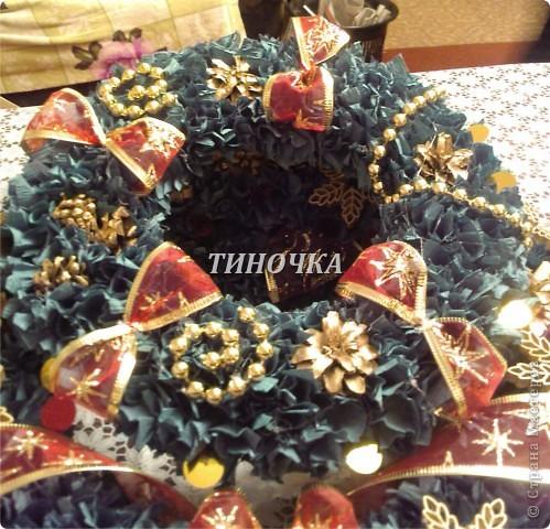 новогодний венок  фото 3