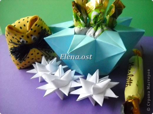 При копировании статьи, целиком или частично, пожалуйста, указывайте активную ссылку на источник! http://stranamasterov.ru/user/9321 http://stranamasterov.ru/node/120275 Коробочка-звездочка в технике оригами. Можно положить сладкий подарок, мягкую игрушку, украшения и поставить под елочку от Деда Мороза. Из цветной бумаги для принтера (квадрат 21х21) получается коробочка в диаметре 11 см (по крайним точкам). фото 34