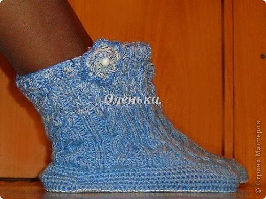 Холодными зимними вечерами - вот такие сапожки согревают мои ножки))). фото 1