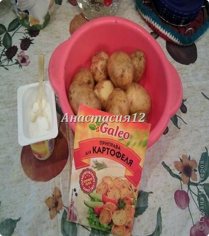 Вам понадобиться:картофель,соль(по вкусу),приправа для картофеля. фото 1