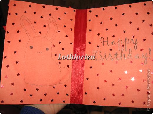 У подруги было День Рождения недавно, решила сделать ей открытку своими руками, выделиться) Ведь все сейчас покупают открытки и мой подарок был так сказать эксклюзивным) фото 2