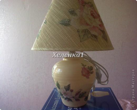 Лампа в стиле прованс фото 3