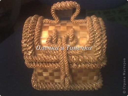 Плетение - Шкатулочка плетнная из соломы.