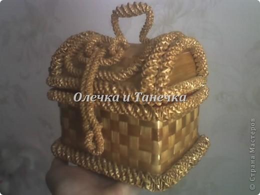Шкатулочка плетённая из соломы фото 2