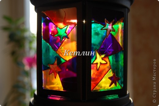 Вот такой фонарик приготовила в подарок Маме мужа Увидела на одном сайте,очень понравилось)))) фото 3