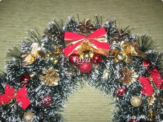 На прошлый Новый год делала веночки на подарки родным. В этом году родные заказали для своих знакомых. фото 2