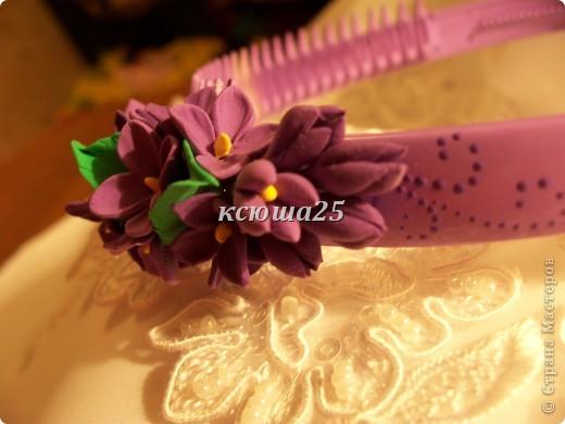 """Ободок в подарок """"Сирень"""" фото 5"""