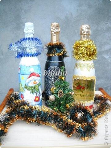 Бутылки с новогодним напитком:) фото 1