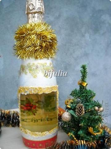 Бутылки с новогодним напитком:) фото 2
