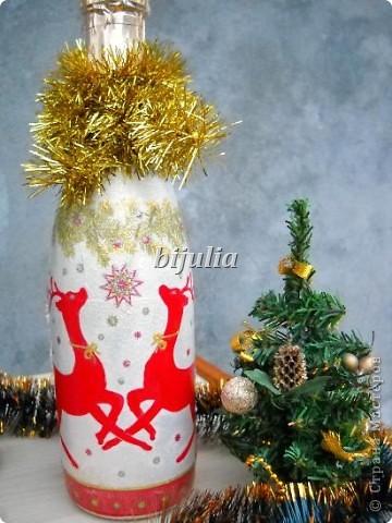 Бутылки с новогодним напитком:) фото 3