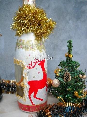 Бутылки с новогодним напитком:) фото 4