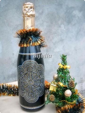 Бутылки с новогодним напитком:) фото 5